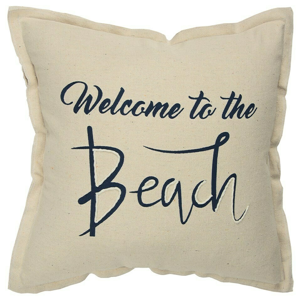 Welcome to the Beach Pillow
