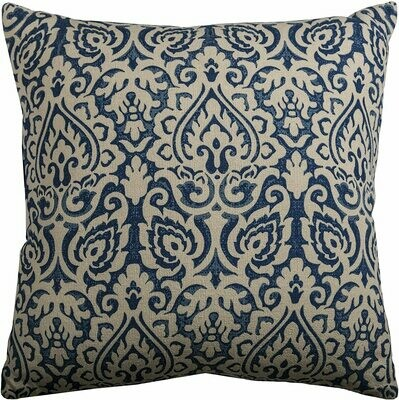 Square Blue/Cream Pillow- Rizzy