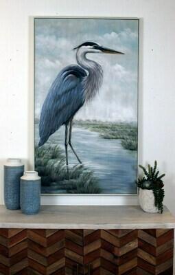 Standing Heron Art