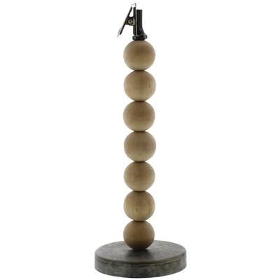 Wood Sphere Clip Stand