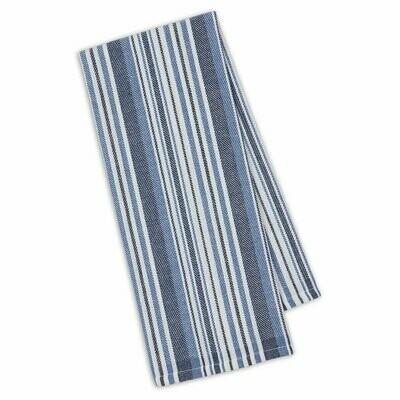 Marine Blue Herringbone Dish Towel