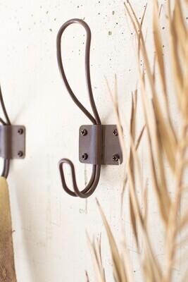 Rustic Metal Coat Hooks