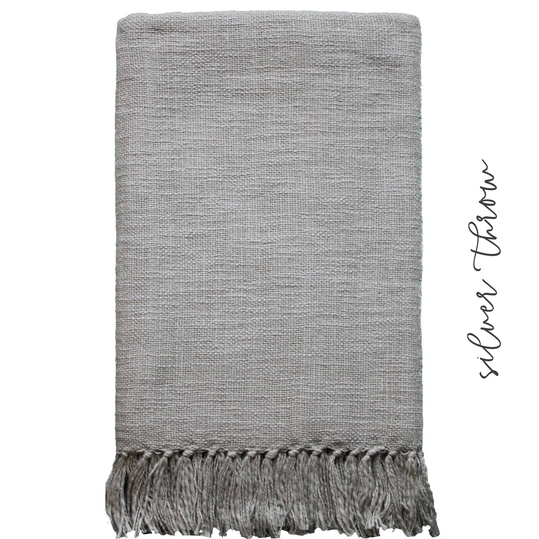 Hand Woven Throw- Grey