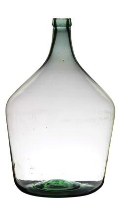 Lg Recycled Glass Bottle- Lt Green