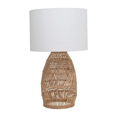 Woven Table Lamp w Shade