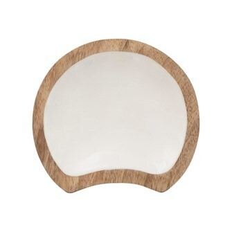 Enameled Mango Wood Spoon Rest