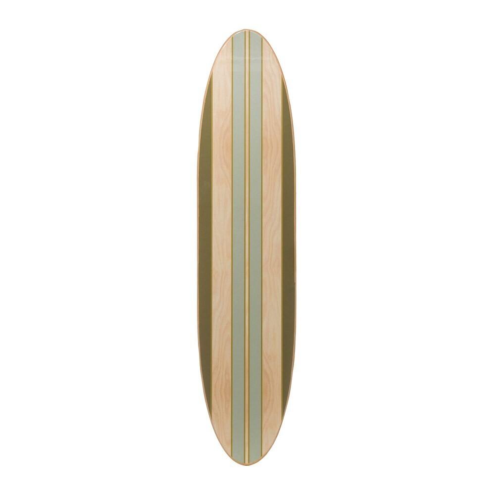 Wood Striped Surfboard Wall Decor