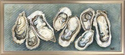 Fresh Oysters Horizontal w Frame