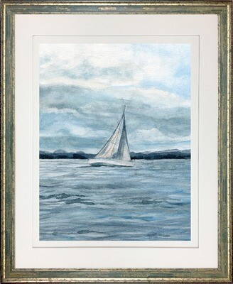 After The Storm Sailboat Wall Art