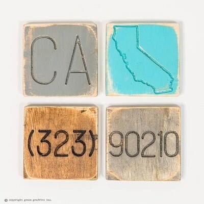 Engraved NC State Pride Coasters