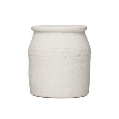 Terracotta Crock - Cream