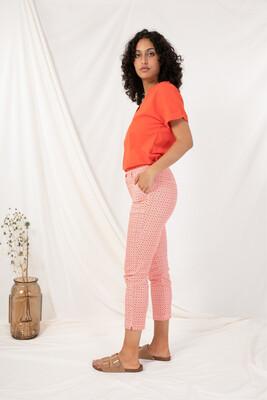 Pantalon motifs rouge