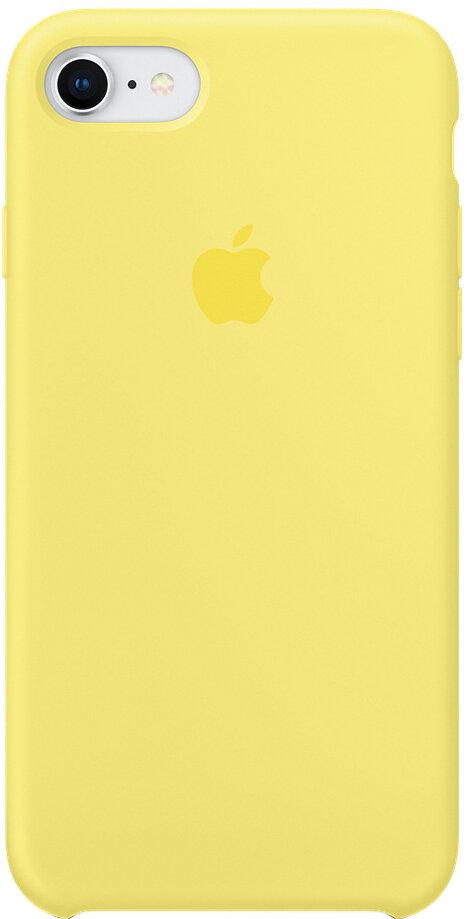 Apple Silicone Case для iPhone 8/7 (лимонад)