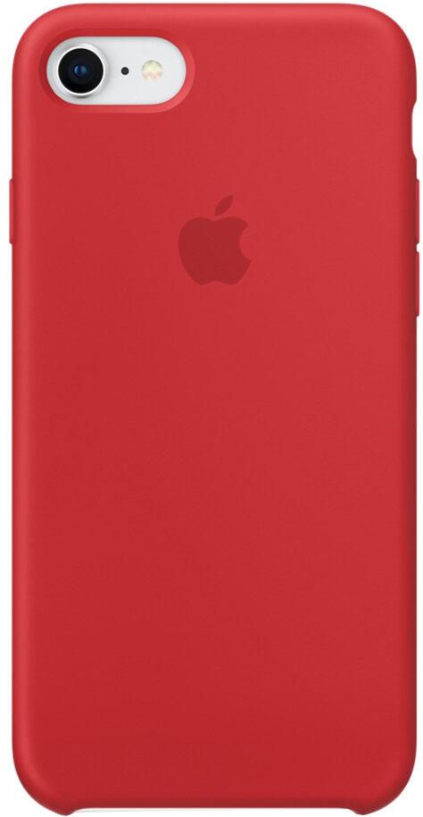 Apple Silicone Case для iPhone 7/8 (красный)