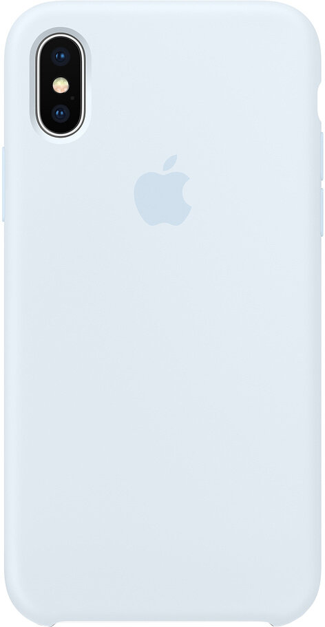 Чехол Apple iPhone X Silicone Case Sky Blue (голубое небо)