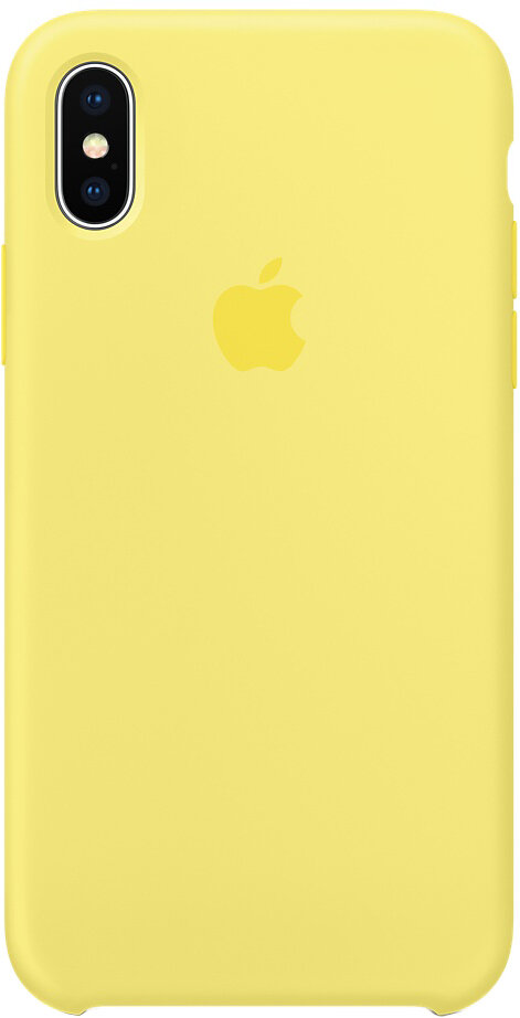 Чехол Apple iPhone X Silicone Case Lemonade (лимонад)