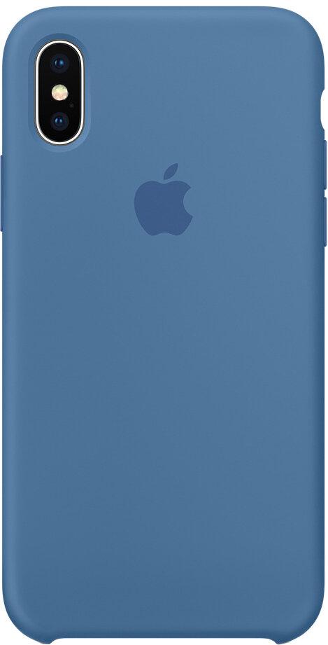 Чехол Apple iPhone X Silicone Case (синий деним)