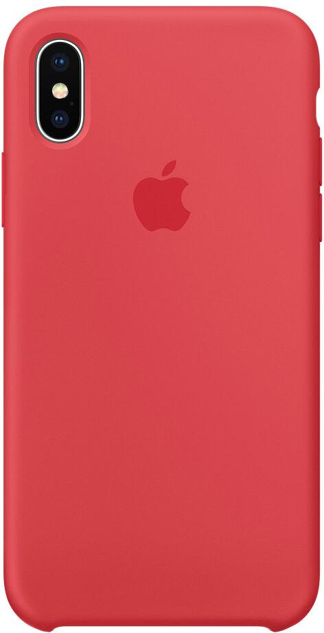 Чехол Apple iPhone X Silicone Case(красная малина)