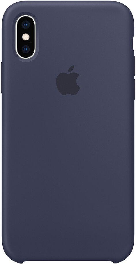 Чехол Apple iPhone XS Silicone Case (темно-синий)