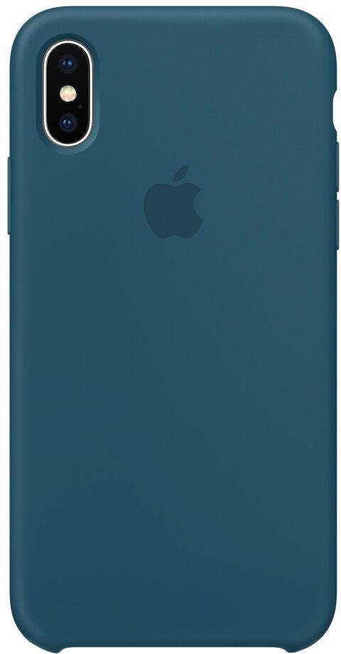Чехол Apple iPhone X Silicone Case Cosmos Blue (космический синий)