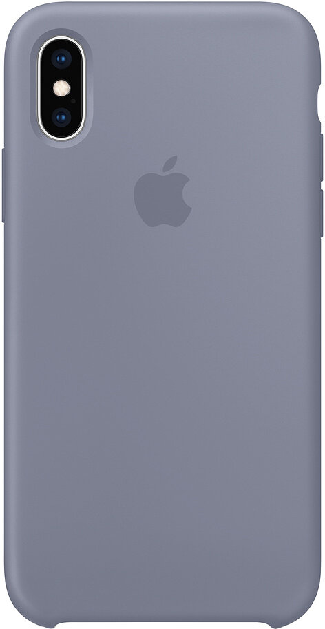 Чехол Apple iPhone XS Silicone Case (темная лаванда)