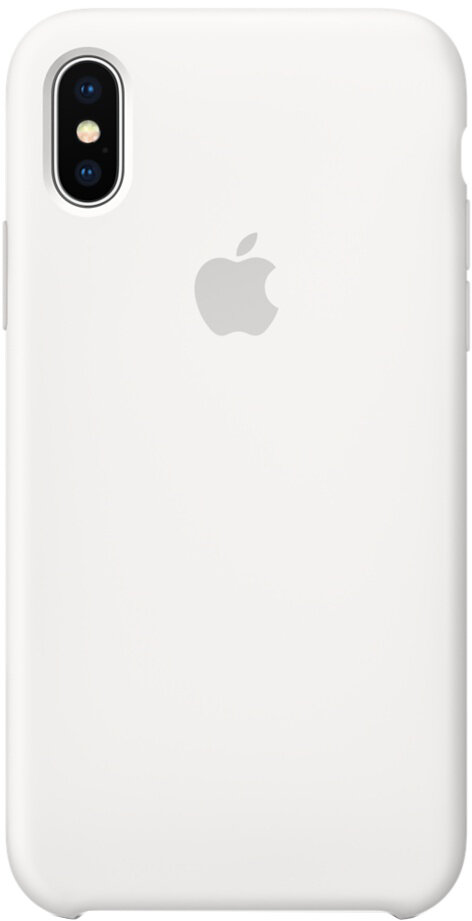 Чехол Apple iPhone X Silicone Case White (белый)