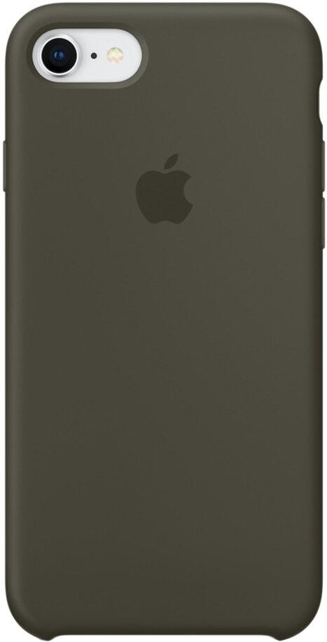 Apple Silicone Case для iPhone 7/8 (темно-оливковый)