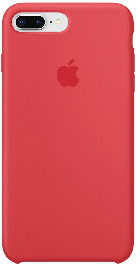Apple Silicone Case для iPhone 8 Plus/7 Plus (красная малина)