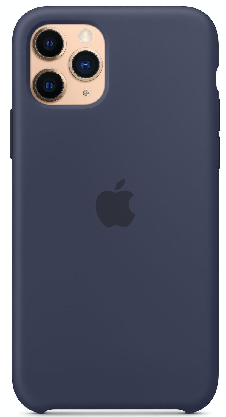 Силиконовый чехол для iPhone 11 Pro Max, тёмно синий цвет
