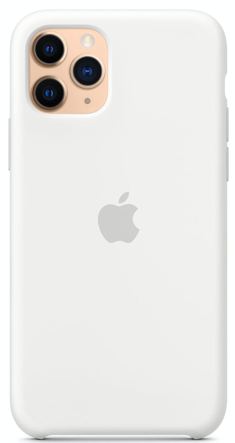 Силиконовый чехол для iPhone 11 Pro Max, белый цвет