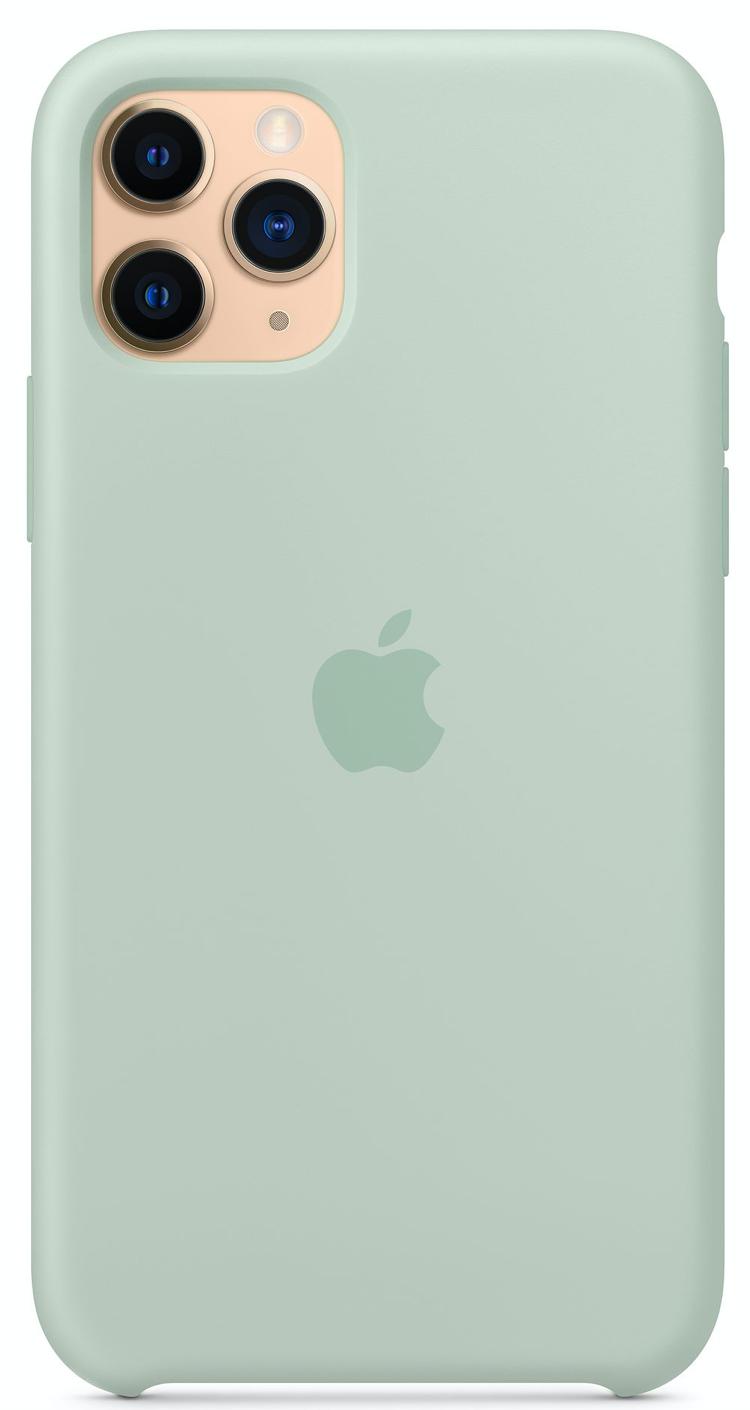 Силиконовый чехол для iPhone 11 Pro, цвет «голубой берилл»