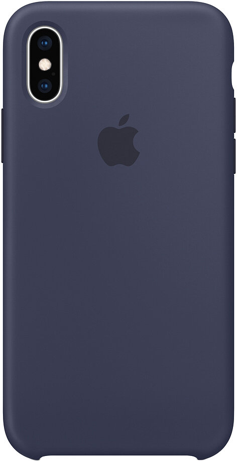 Силиконовый чехол для Apple iPhone XS Max Blue (темно-синий)