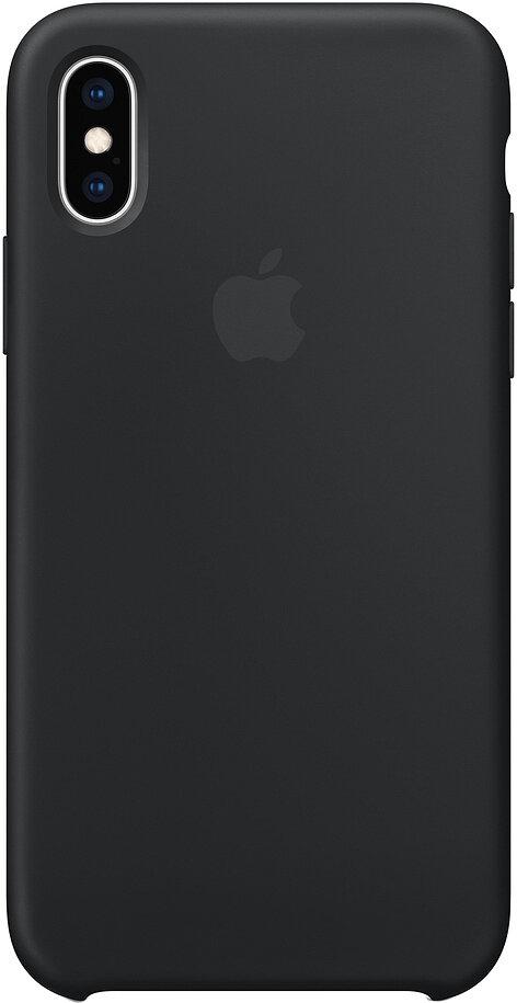 Силиконовый чехол для Apple iPhone XS Max Black (черный)