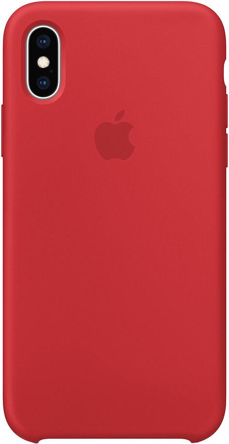 Силиконовый чехол для Apple iPhone XS Max Red (красный)