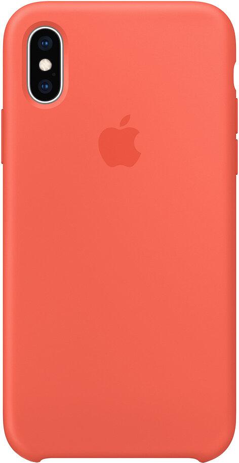 Силиконовый чехол для Apple iPhone XS Max Nectarine (спелый нектарин)