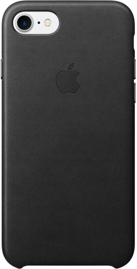 Apple для iPhone 7/8 кожаный (черный)