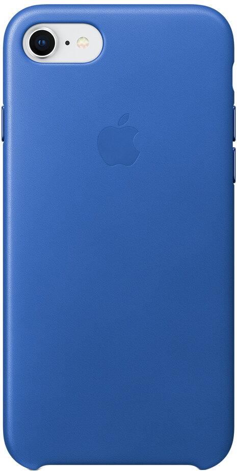 Apple Leather Case для iPhone 8/7 (синий электрик)