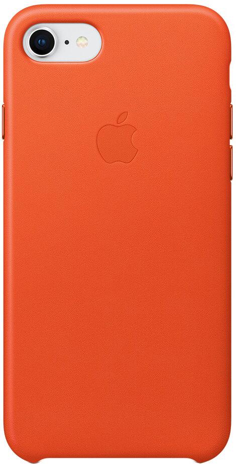 Apple Leather Case для iPhone 8/7 (ярко-оранжевый)