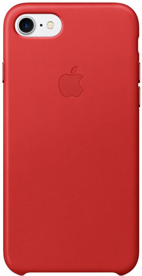 Apple для iPhone 7/8 кожаный (красный)