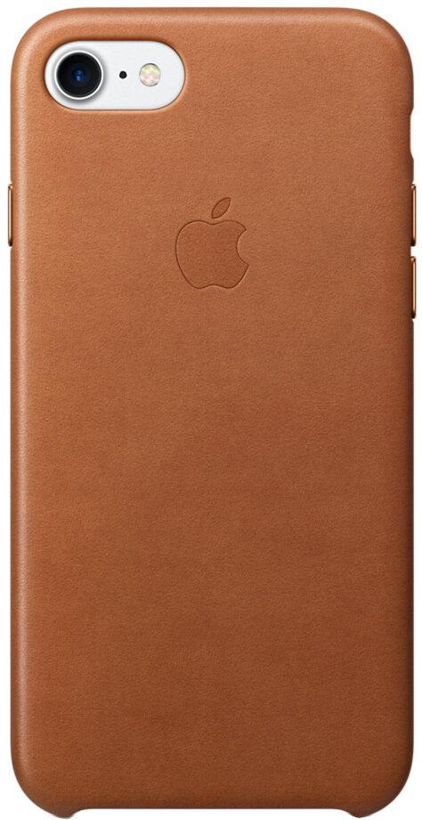 Apple для iPhone 7/8 кожаный (золотисто-коричневый)