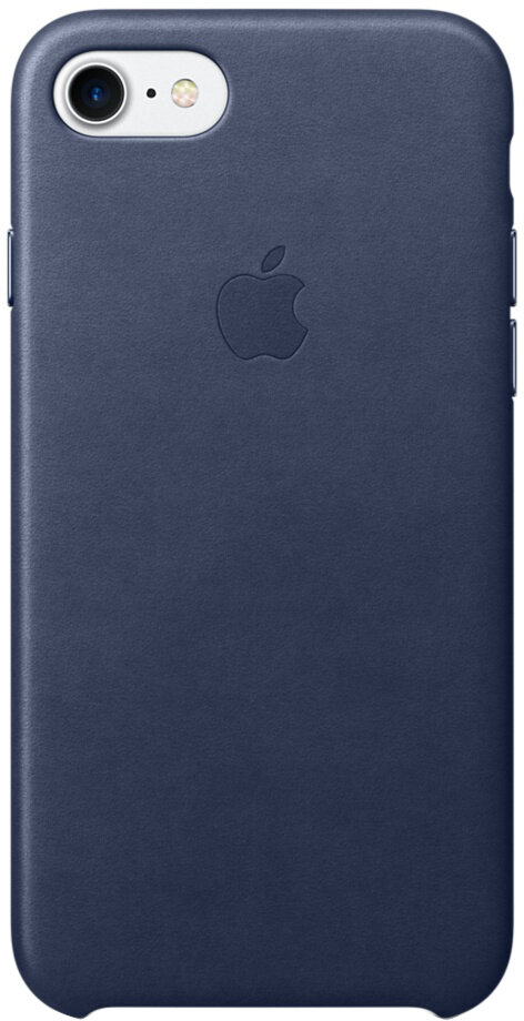 Apple для iPhone 7/8 кожаный (темно-синий)