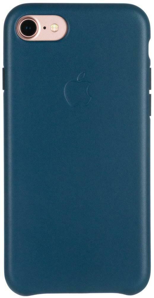 Apple Leather Case для iPhone 7/8 (космический синий)