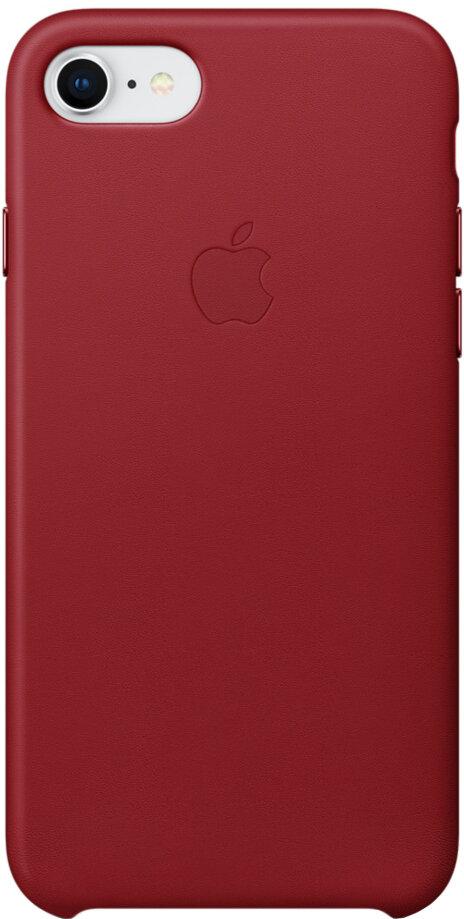 Apple Leather Case для iPhone 7/8 (красный)