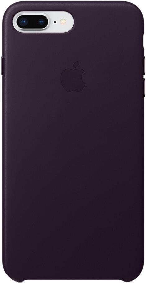 Apple Leather Case для iPhone 7/8 Plus (баклажановый)