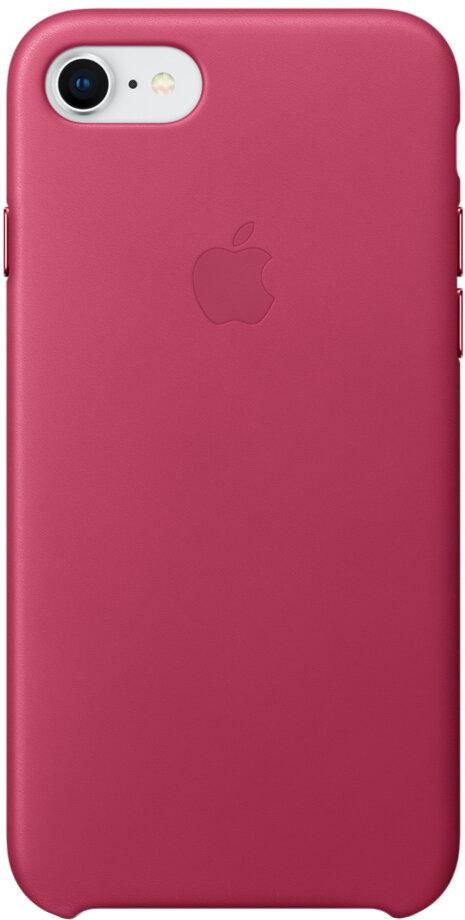 Apple Leather Case для iPhone 7/8 (розовая фуксия)