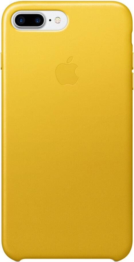 Apple Leather Case для iPhone 7 Plus/8 Plus (ярко-желтый)