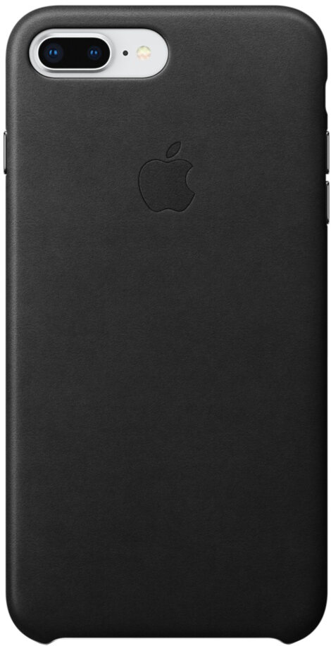 Apple Leather Case для iPhone 7/8 Plus (черный)
