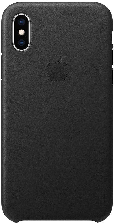 Apple Leather для iPhone XS Max (черный)