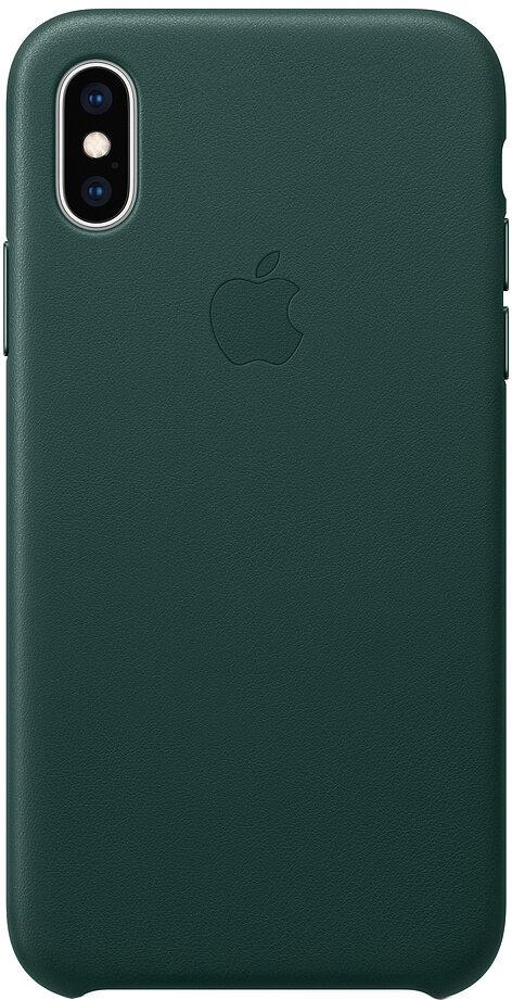 Apple Leather для iPhone XS (зеленый лес)