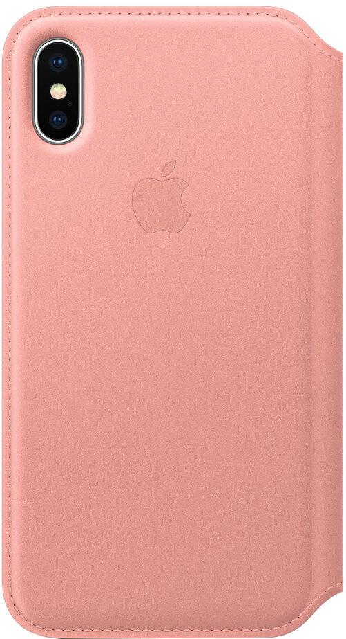 Apple Leather Folio для iPhone X (бледно-розовый)